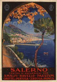 Vintage Travel Poster Salerno